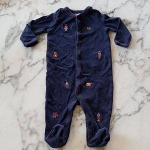Navy Blue Long sleeves Footed, Size 6 Months